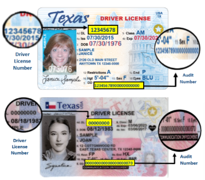 change drivers license to tx